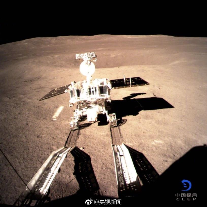 Yutu-2 na powierzchni Księżyca /materiały prasowe