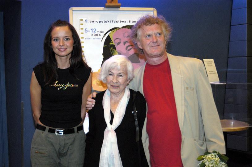 Z Anną Przybylską i Danutą Szaflarską w 2004 roku /Mikulski /AKPA