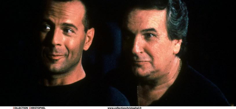 "Z Brucem Willisem w scenie z filmu ""Hudson Hawk"" /Collection Christophel /East News"