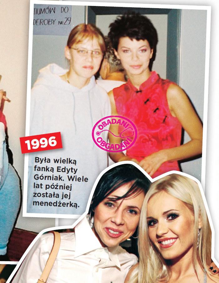 Z Edytą Górniak. Kilka lat później Maja została jej menedżerką - 1996 r. /Show