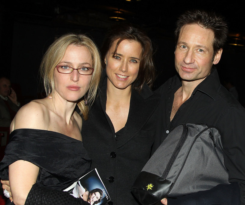 Z Gillian Anderson i swoim ówczesnym mężem Davidem Duchovnym /Getty Images
