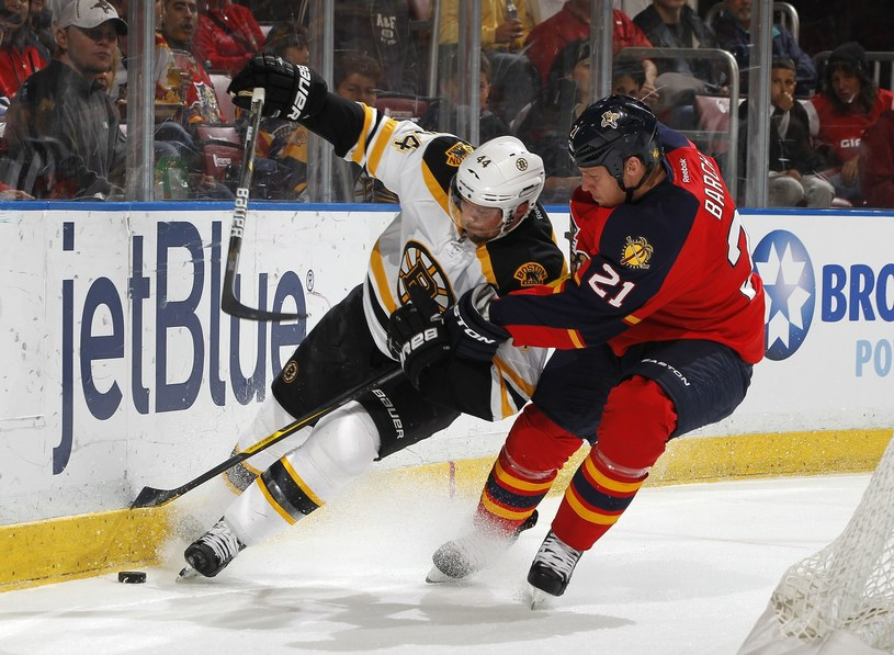 Z lewej Dennis Seidenberg z Boston Bruins /AFP