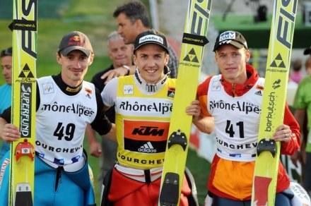 Z lewej legenda skoków narciarskich - Adam Małysz /AFP