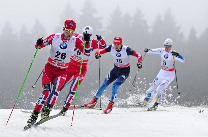 Z lewej Martin Johnsrud Sundby /AFP