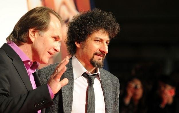 Z lewej rosyjski aktor Aleksiej Guskow /AFP