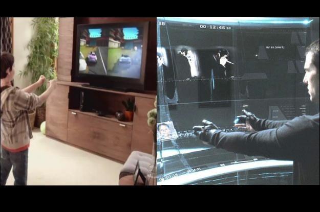 """Z lewej sensor ruchowy Kinect, z prawej """"Raport mniejszości"""". Kinowa wizja stała się rzeczywistością /materiały prasowe"""