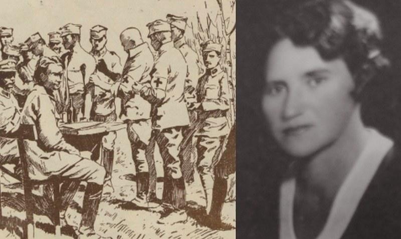 Z lewej – szczepienie legionistów na rysunku Franciszka Zajchowskiego. Z prawej – Maria Wołoszynowska na fotografii portretowej /Ciekawostki Historyczne