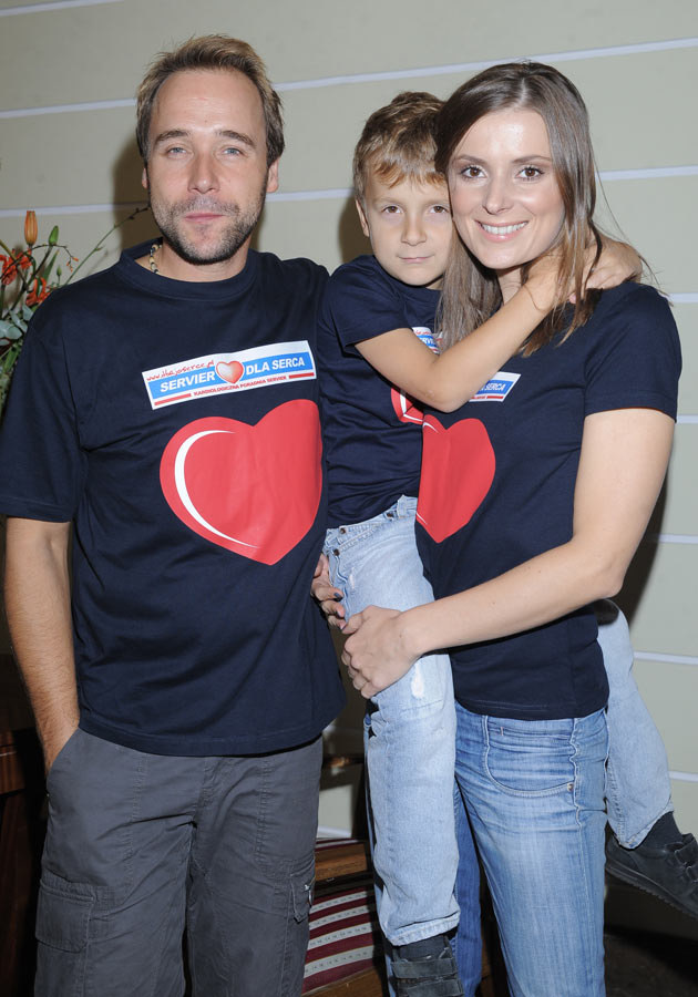 Z mężem i synem  /MWMedia