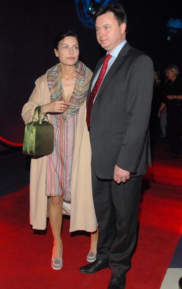 Z mężem Januszem Grzelakiem  /MWMedia