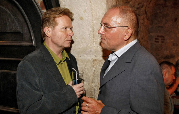 Z Michałem Bajorem, 2008, fot.Engelbrecht  /AKPA
