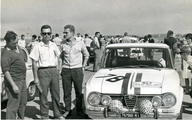 Z nr 78 wystartowali Włosi Silvano Stefani i Luciano Lombardini na alfa romeo giulia super ti /Archiwum Tomasza Szczerbickiego