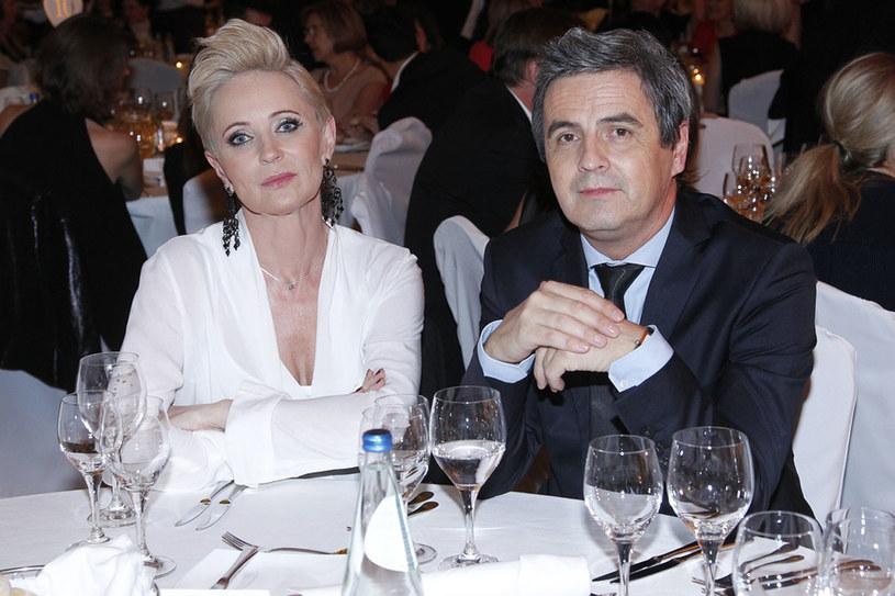 Z obecną partnerką Joanną Gajewską /Engelbrecht /AKPA