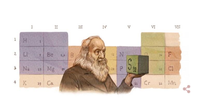 Z okazji 182. rocznicy urodzin Dmitrija Mendelejewa wyszukiwarka Google upamiętniła wybitnego rosyjskiego chemika /Google.com /