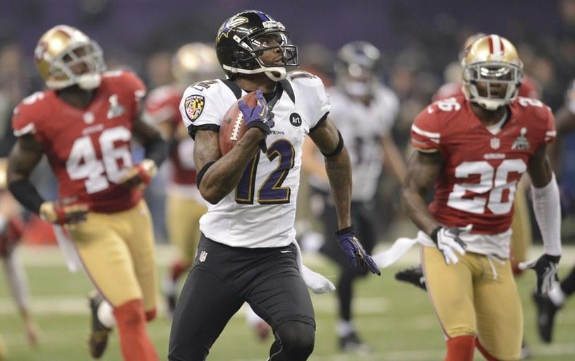 Z piłką Jacoby Jones z Baltimore Ravens /AFP