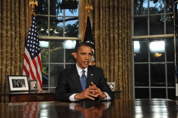 Z pokoju owalnego prezydenci amerykańscy ogłaszają przesłania w najbardziej dramatycznych momentach /AFP