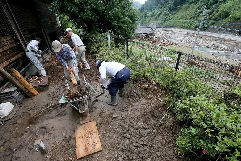 Z powodu ulewnych deszczy w Japonii zginęły co najmniej cztery osoby /JIJI PRESS /AFP