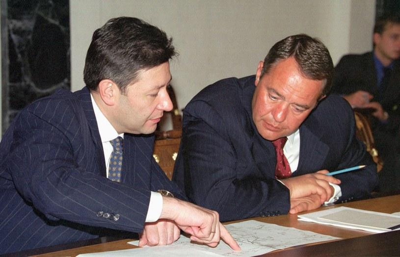 Z prawej Michaił Lesin /AFP
