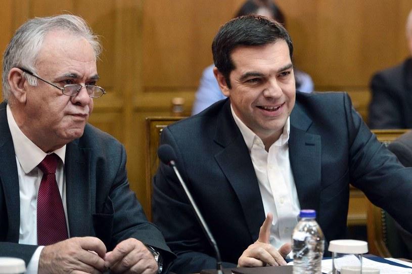 Z prawej premier Grecji Aleksis Cipras /AFP