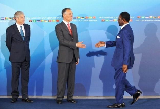 Z prawej prezydent Gwinei Równikowej Teodoro Obiang Nguema Mbasogo. Skorumpowany, ale akceptowany... /AFP