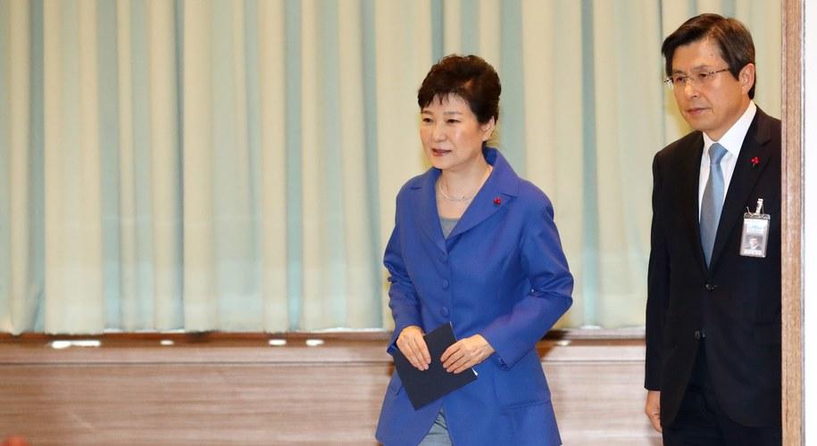 Z prawej prezydent Korei Płd. Park Geun Hie /STRINGER /PAP/EPA