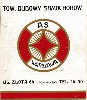 Z prospektu Towarzystwa Budowy Samochodów AS /Archiwum Tomasza Szczerbickiego