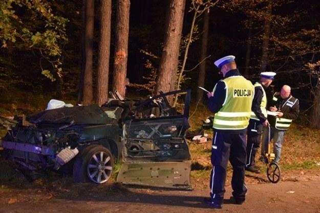 Z samochodu, który uderzył w drzewo niewiele zostało /Policja /Policja