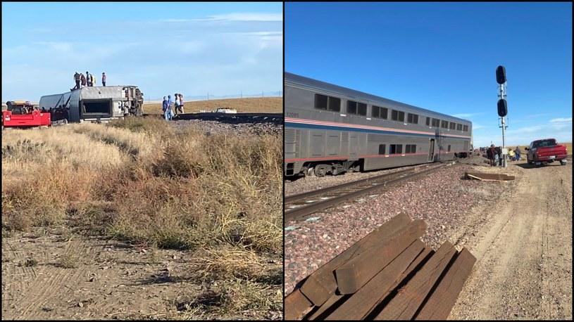 Z torów wypadło pięć wagonów /Jacob Cordeiro /PAP/EPA