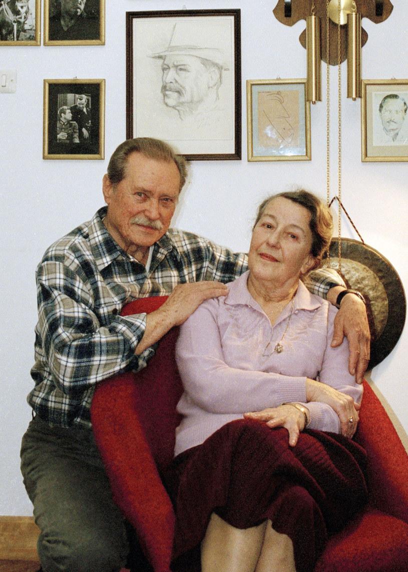 Z trzecią żoną Teresą Emil Karewicz spędził 62 lata /Maciej Billewicz /East News