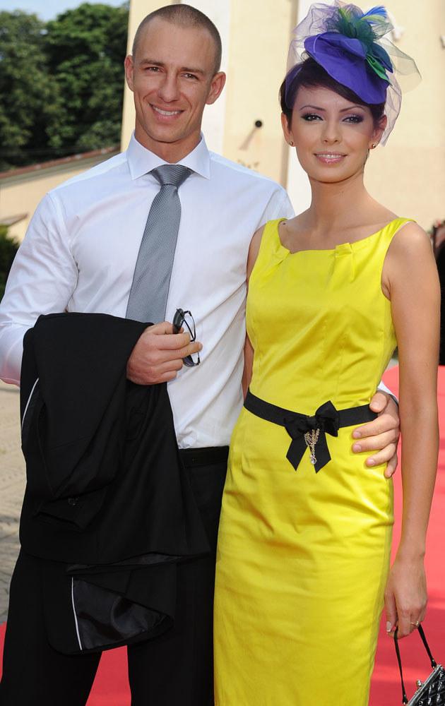 Z tym przystojniakiem Gardias pojawiła się na ślubie Agnieszki Popielewicz. Nie są już razem /Andras Szilagyi /MWMedia