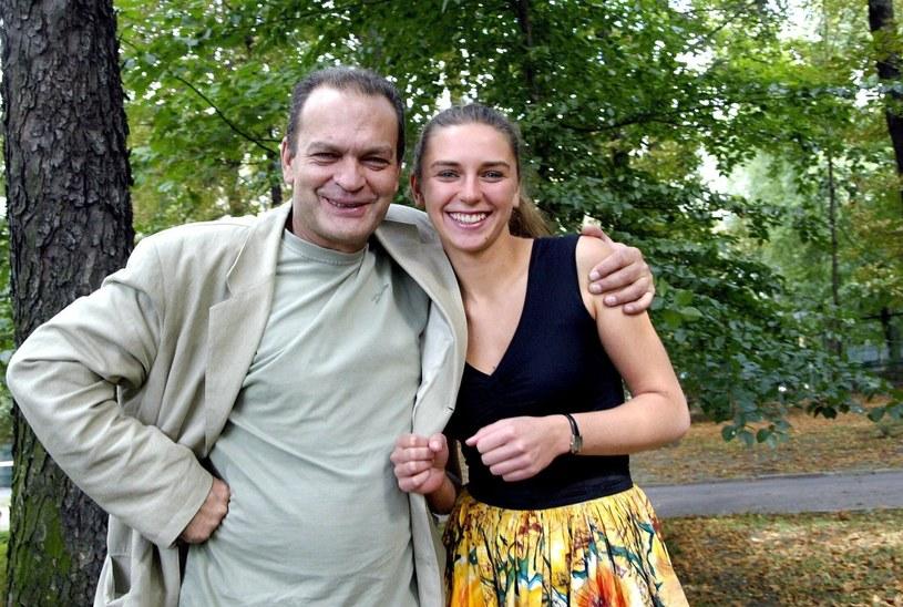 Z ukochaną córką Julią we wrześniu 2004 roku /Paweł de Ville /East News