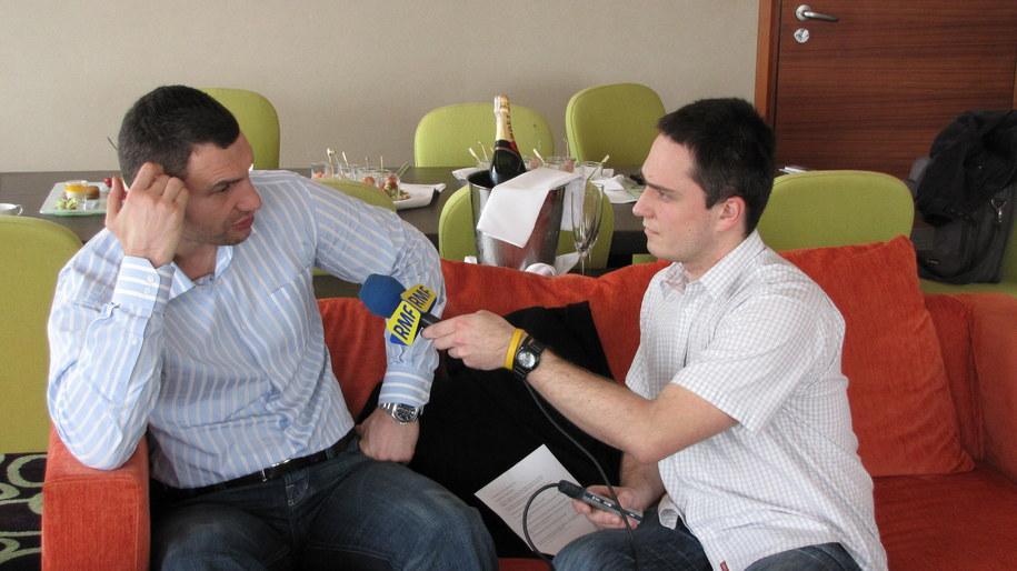 Z Witalijem Kliczką rozmawia Patryk Serwański  /RMF FM