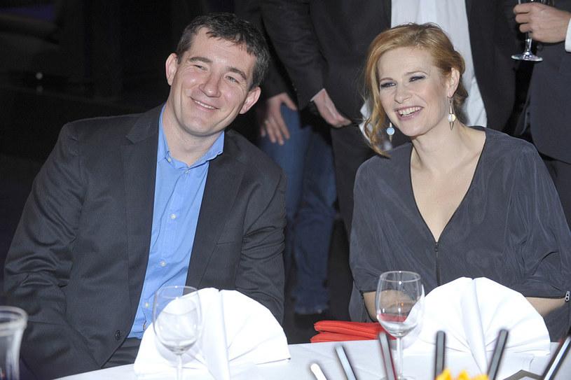 Z żoną Agnieszką Warchulską /Baranowski /AKPA