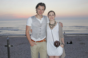 Z żoną Dianą tworzą szczęśliwy związek. /fot  /AKPA