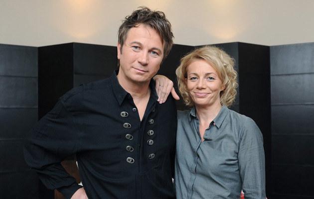 Z żoną, fot.Bartosz Krupa  /East News