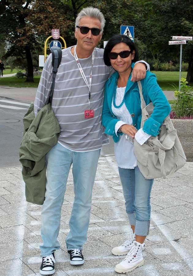 Z żoną Joanną, fot.Paweł Przybyszewski  /MWMedia