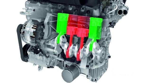 Za odłączanie dwóch środkowych cylindrów odpowiada zmodyfikowany układ rozrządu. Zawory obu cylindrów pozostają zamknięte. /Motor