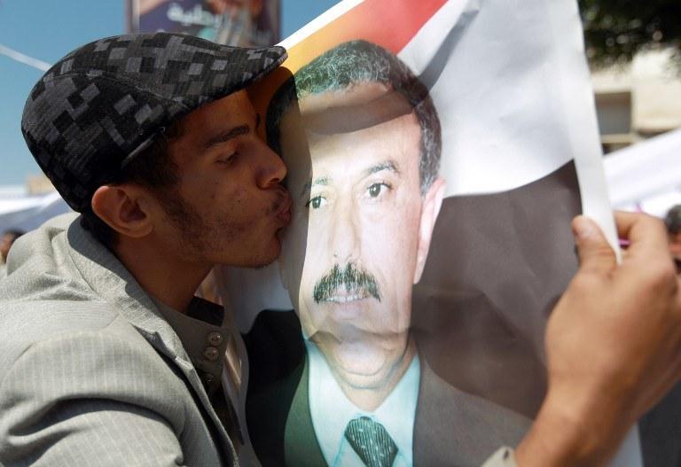 Za zdjęciu były prezydent Jemenu Ali Abdullah Saleh /AFP