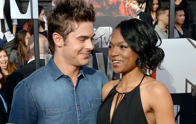 Zac Efron i LaQuishe Wright na gali MTV Movie Awards /Michael Buckner  /Getty Images