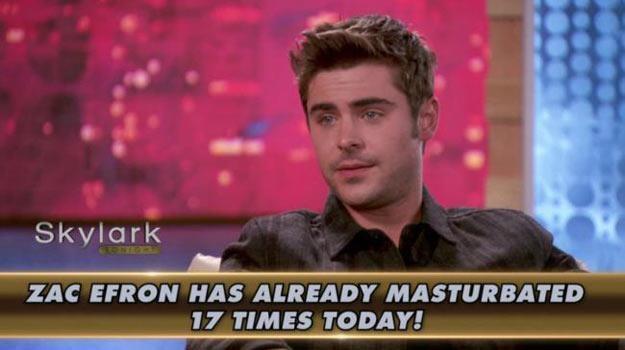 """Zac Efron: Tak wygląda człowiek, który zrobił """"to"""" dziś już 17 razy /"""