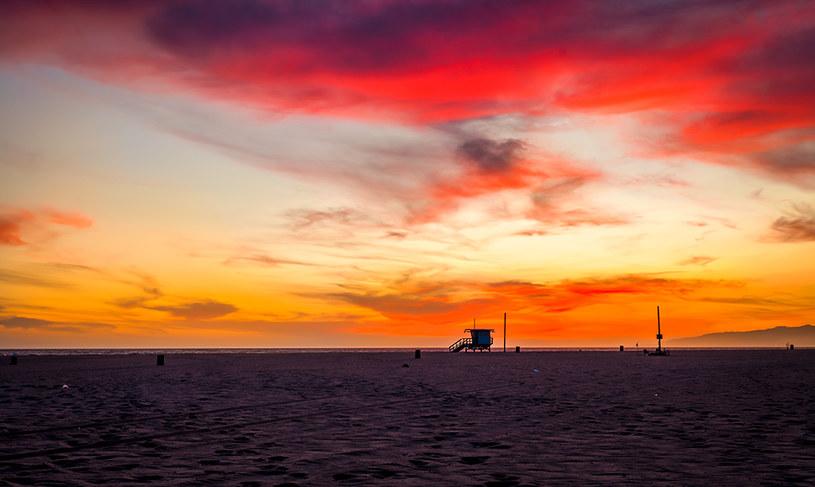 Zachód słońca nad Venice Beach /INTERIA.PL