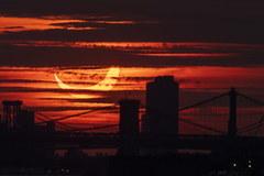 Zaćmienie Słońca w Nowym Jorku