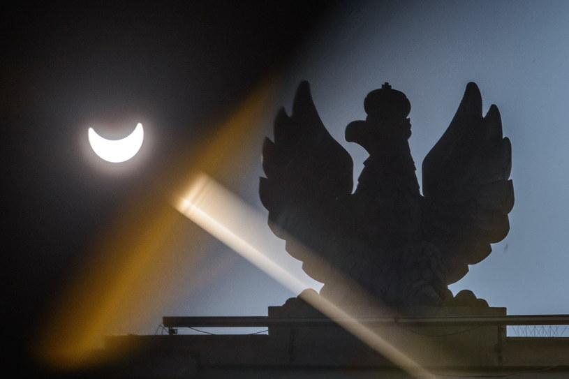 Zaćmienie Słońca widziane w Lublinie /PAP/Wojciech Pacewicz /PAP