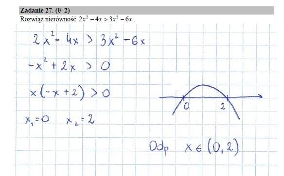 Zadanie 27 rozwiązanie /INTERIA.PL