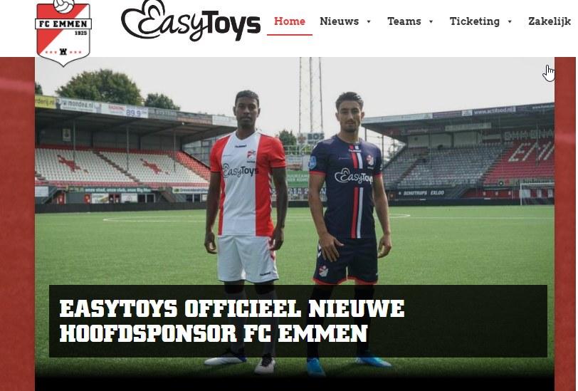 Żadne pieniądze nie śmierdzą - tak twierdzą najwyraźniej w FC Emmen, szczycąc się nowym sponsorem /