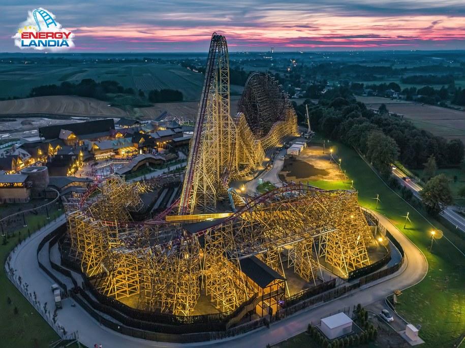Zadra to najwyższy na świecie drewniany coastera /Materiały prasowe