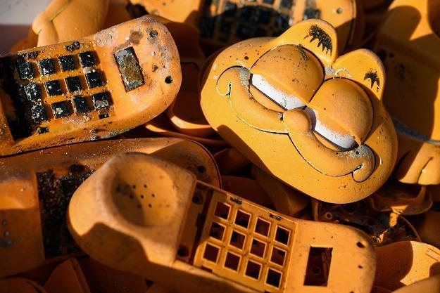 Zagadkowe telefony w kształcie kota Garfielda /AFP
