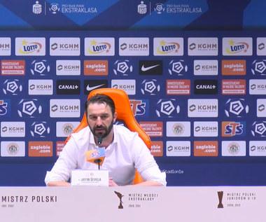 Zagłębie Lubin. Trener Martin Sevela po meczu z Podbeskidziem Bielsko-Biała. Wideo