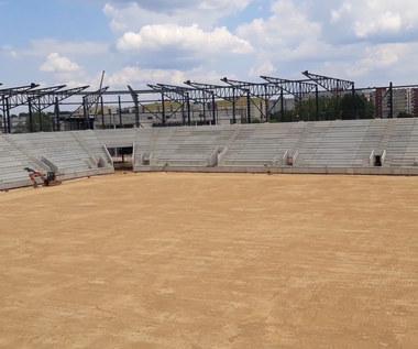 Zagłębie Sosnowiec. Trwa budowa nowego stadionu. Wideo