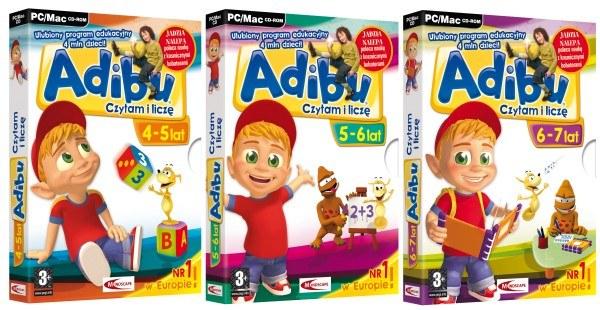 Zagraj o edukacyjne gry z serii Adibu: Czytam i Liczę /Informacja prasowa