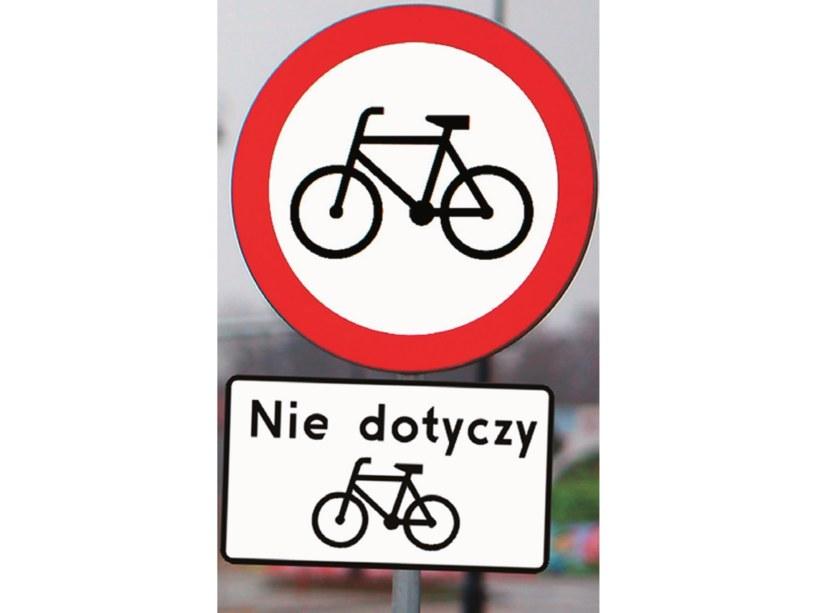 zakaz dla rowerów /Motor